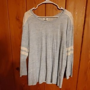 Old navy size xxl light blue and white shirt